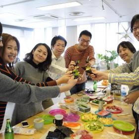 手巻き寿司パーティーです。